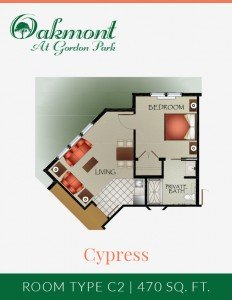 Cypress - Assisted Living one bedroom