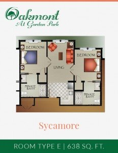 Sycamore - Assisted Living - 2BR/2BA